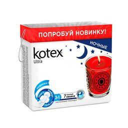 Kotex ultra night прокладки ночные поверхность сеточка, прокладки гигиенические, 7 шт.