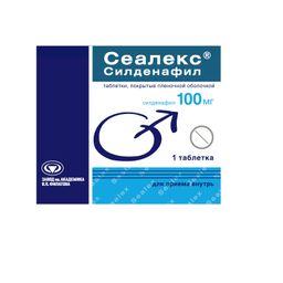Сеалекс Силденафил, 100 мг, таблетки, покрытые пленочной оболочкой, 1 шт.