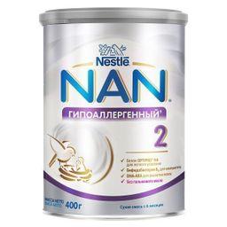 NAN 2 Optipro Гипоаллергенный, для детей с 6 месяцев, смесь молочная сухая, с пробиотиками, 400 г, 1шт.