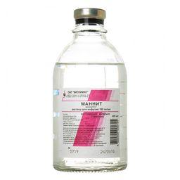 Маннит, 150 мг/мл, раствор для инфузий, 400 мл, 15 шт.