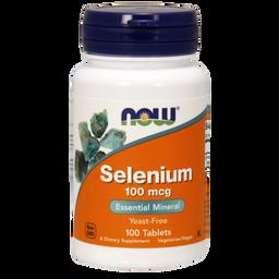 NOW Selenium, 100 мг, таблетки, 100шт.