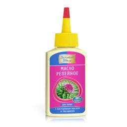 Золотой Шелк Репейное масло для волос с касторовым маслом и гвоздикой