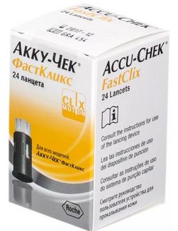 Accu-Chek FastClix ланцеты, 24шт.