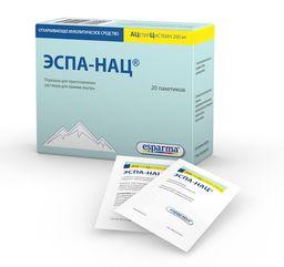 Эспа-Нац, 200 мг, порошок для приготовления раствора для приема внутрь, 3 г, 20 шт.