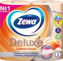 Zewa Delux Туалетная бумага трехслойная персик
