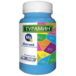 Турамин Магний, 0.5 г, капсулы, 90 шт.