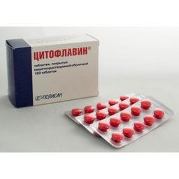 Цитофлавин, таблетки, покрытые кишечнорастворимой оболочкой, 100шт.