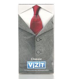 Презерватив Vizit Classic, презерватив, гладкие, 12шт.