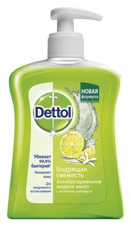 Dettol Мыло жидкое для рук Антибактериальное грейпфрут, мыло жидкое, 250 мл, 1 шт.