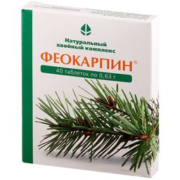 Феокарпин, 600 мг, таблетки, 40 шт.