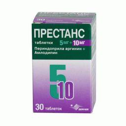 Престанс, 5 мг+10 мг, таблетки, 30 шт.