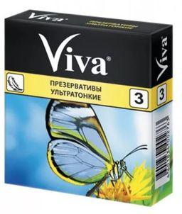 Презервативы Viva, презерватив, ультратонкие, 3 шт.