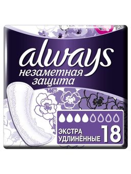 Always Незаметная защита прокладки ежедневные экстраудлиненные