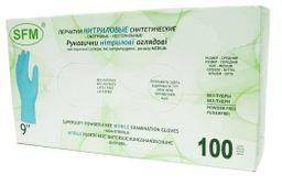 Перчатки смотровые медицинские нитриловые неопудренные, размер L, нестерильная (ые, ый), 100шт.