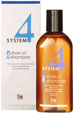 System 4 Терапевтический шампунь №4 для жирной и чувствительной кожи головы, шампунь, 215 мл, 1шт.