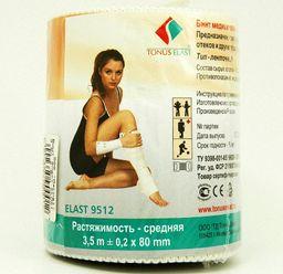 Бинт эластичный медицинский ELAST, 3,5мх8см, средней растяжимости, 1 шт.