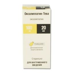 Оксалиплатин-Тева, 5 мг/мл, концентрат для приготовления раствора для инфузий, 20 мл, 1 шт.