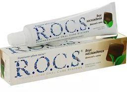 ROCS Зубная паста Вкус наслаждения Шоколад и мята, без фтора, паста зубная, 74 г, 1шт.