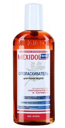 Mexidol dent Ополаскиватель, без фтора, раствор для полоскания полости рта, 300 мл, 1 шт.