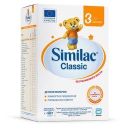 Similac Classic 3, для детей с 12 месяцев, смесь молочная сухая, 600 г, 1шт.