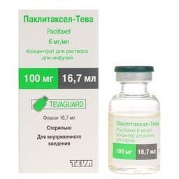Паклитаксел-Тева, 6 мг/мл, концентрат для приготовления раствора для инфузий, 16.7 мл, 1 шт.