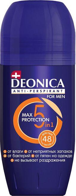 Deonica Антиперспирант For men Max protection 5в1, 45 мл, 1шт.
