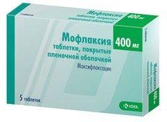 Мофлаксия, 400 мг, таблетки, покрытые пленочной оболочкой, 5 шт.