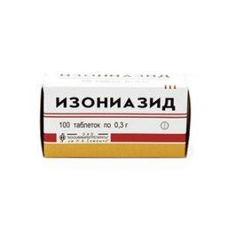 Изониазид, 300 мг, таблетки, 100 шт.