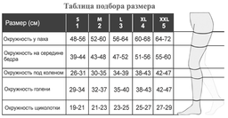 Relaxsan Stay-up 280 Open toe Чулки с открытым носком 2 класс компрессии, р. 3, арт. 1470S (22-27 mm Hg), 280 DEN (светло-телесного цвета, на резинке), пара, 1шт.