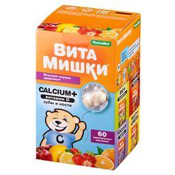 ВитаМишки Calcium + витамин D, 2500 мг, пастилки жевательные, ассорти, 60 шт.