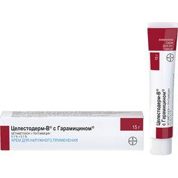 Целестодерм-В с гарамицином, крем для наружного применения, 15 г, 1 шт.