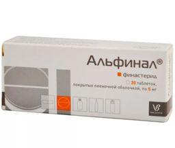 Альфинал, 5 мг, таблетки, покрытые пленочной оболочкой, 30 шт.