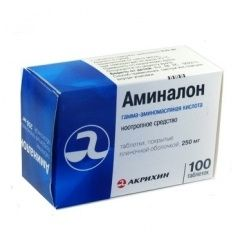 Аминалон, 250 мг, таблетки, покрытые оболочкой, 100шт.