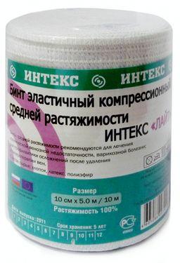 Интекс-Лайт Бинт эластичный компрессионный, 10 см х 5 м, с застежкой, средней растяжимости, 1 шт.