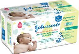 Johnson's Baby Салфетки влажные детские Нежность хлопка, салфетки гигиенические, с экстрактом хлопка, 112шт.
