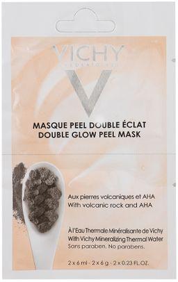 Vichy маска-пилинг минеральная Двойное сияние, маска для лица, 6 мл, 2 шт.