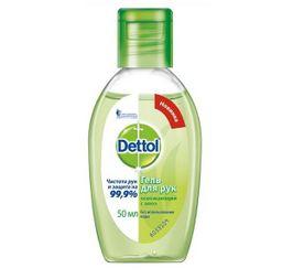 Dettol Гель для рук антибактериальный с алоэ, освежающий, 50 мл, 1шт.