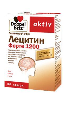 Доппельгерц актив Лецитин Форте 1200, 1200 мг, капсулы, 30шт.