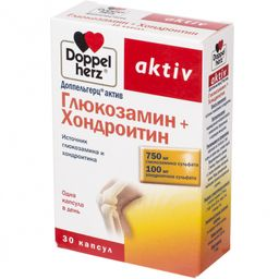 Доппельгерц актив Глюкозамин+Хондроитин, 1232 мг, капсулы, 30 шт.