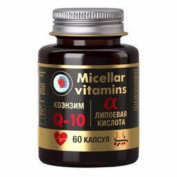 Мицеллированный коэнзим Q10 с альфа-липоевой кислотой, 1080 мг, капсулы, 60 шт.