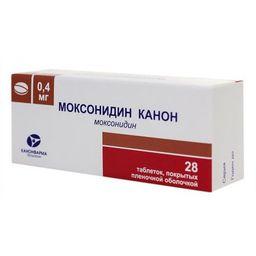 Моксонидин Канон, 0.4 мг, таблетки, покрытые пленочной оболочкой, 28 шт.