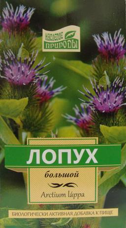 Лопух большой, сырье растительное измельченное, 50 г, 1 шт.