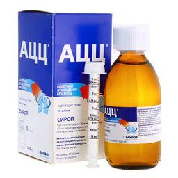 АЦЦ, 20 мг/мл, сироп, 200 мл, 1 шт.