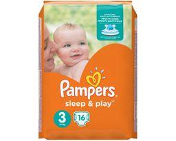 Подгузники детские Pampers Sleep&Play, 4-9 кг, р. 3 (Midi), 16 шт.