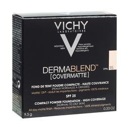 Vichy Dermablend Covermatte пудра компактная SPF25, пудра, тон 15, 9,5 мл, 1шт.