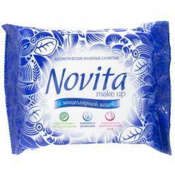 Салфетки для снятия макияжа Novita Мake-up с мицеллярной водой, с мицеллярной водой, 15шт.