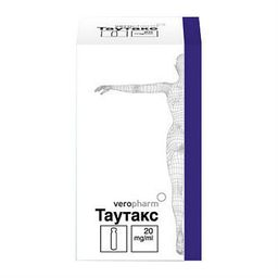 Таутакс, 20 мг/мл, концентрат для приготовления раствора для инфузий, 5.5 мл, 1 шт.