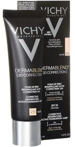 Vichy Dermablend 3D Тональная основа тон 25, крем для лица, тон 25, 30 мл, 1шт.