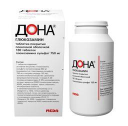 Дона, 750 мг, таблетки, покрытые пленочной оболочкой, 180шт.