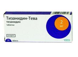 Тизанидин-Тева, 2 мг, таблетки, 30 шт.